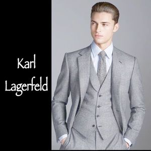 Karl Lagerfeld Suits & Blazers - KARL LAGERFELD WOOL GRAY BLAZER SIZE 44 LONG